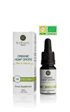 BioBloom Organic Hemp Drops 4% 400mg 10ml
